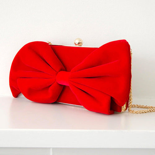 Limited Edition Red Bow Clutch