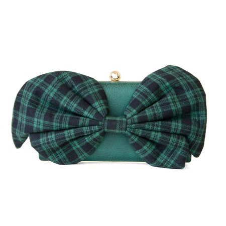 Princess Marina  Bow Clutch - Wine Red