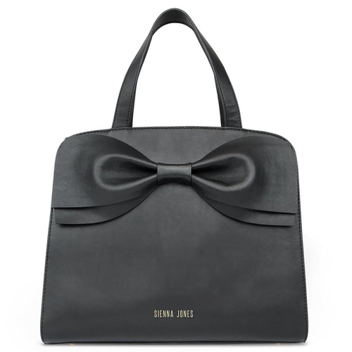 Marina Bow Bag - Raven Black