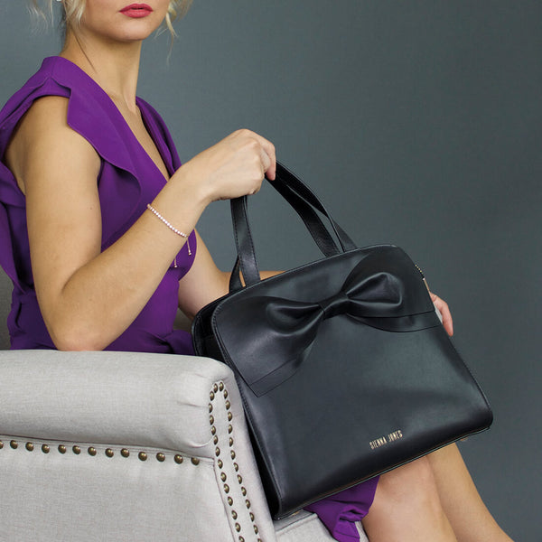 Princess Marina Bow Bag - Raven Black