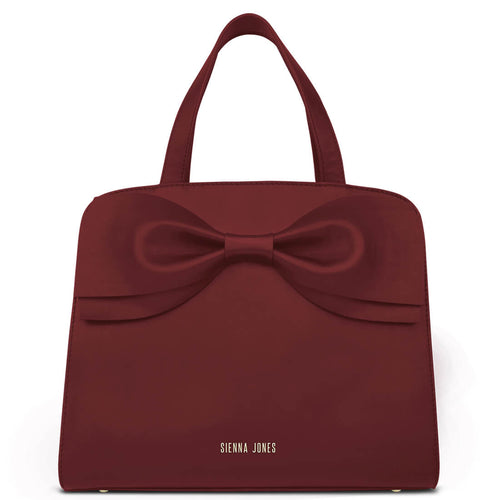 Marina Bow Bag - Wine