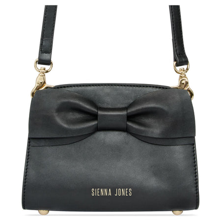 Princess Marina Bow Clutch - Raven Black