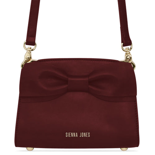 Marina Mini Bow Bag - Wine