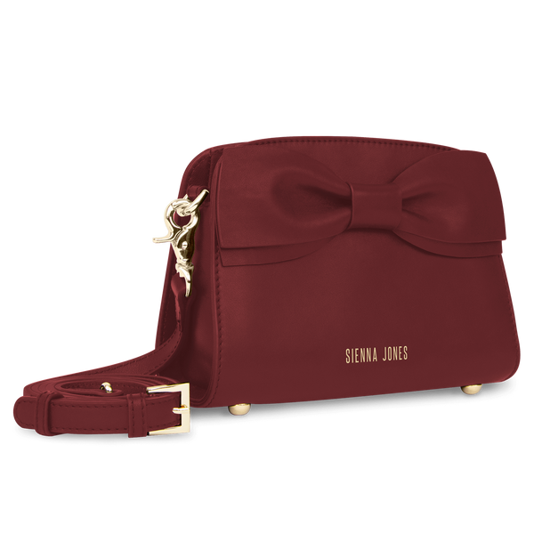 Princess Marina Mini Bow Bag - Wine