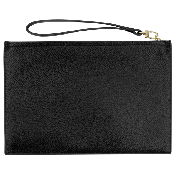 Sienna Jones Classic Pouch  in Black leather - Reverse