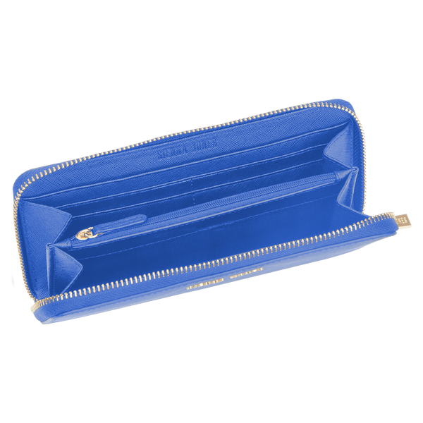 Sienna Jones Zip Around Purse in Blue - Inner