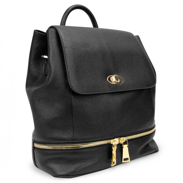 Sienna Jones Classic Backpack in black leather