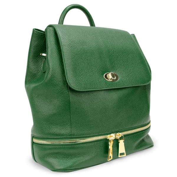 Sienna Jones Classic Backpack in green leather