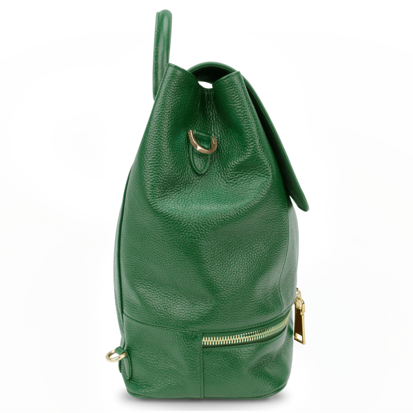 Sienna Jones Classic Backpack in green - Side