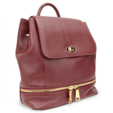 Sienna Jones Classic Backpack in red leather