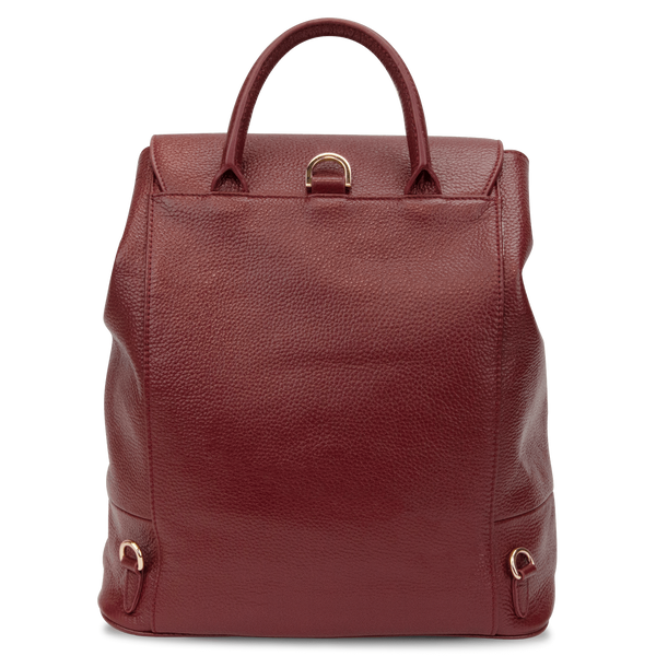 Sienna Jones Classic Backpack in red leather - Reverse