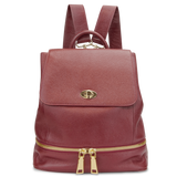 Sienna Jones Classic Backpack in red - Adjustable leather straps