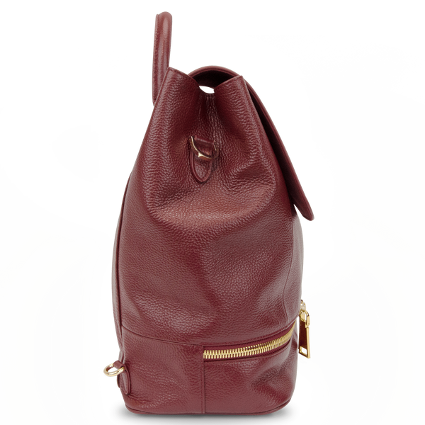 Sienna Jones Classic Backpack in red leather - Side