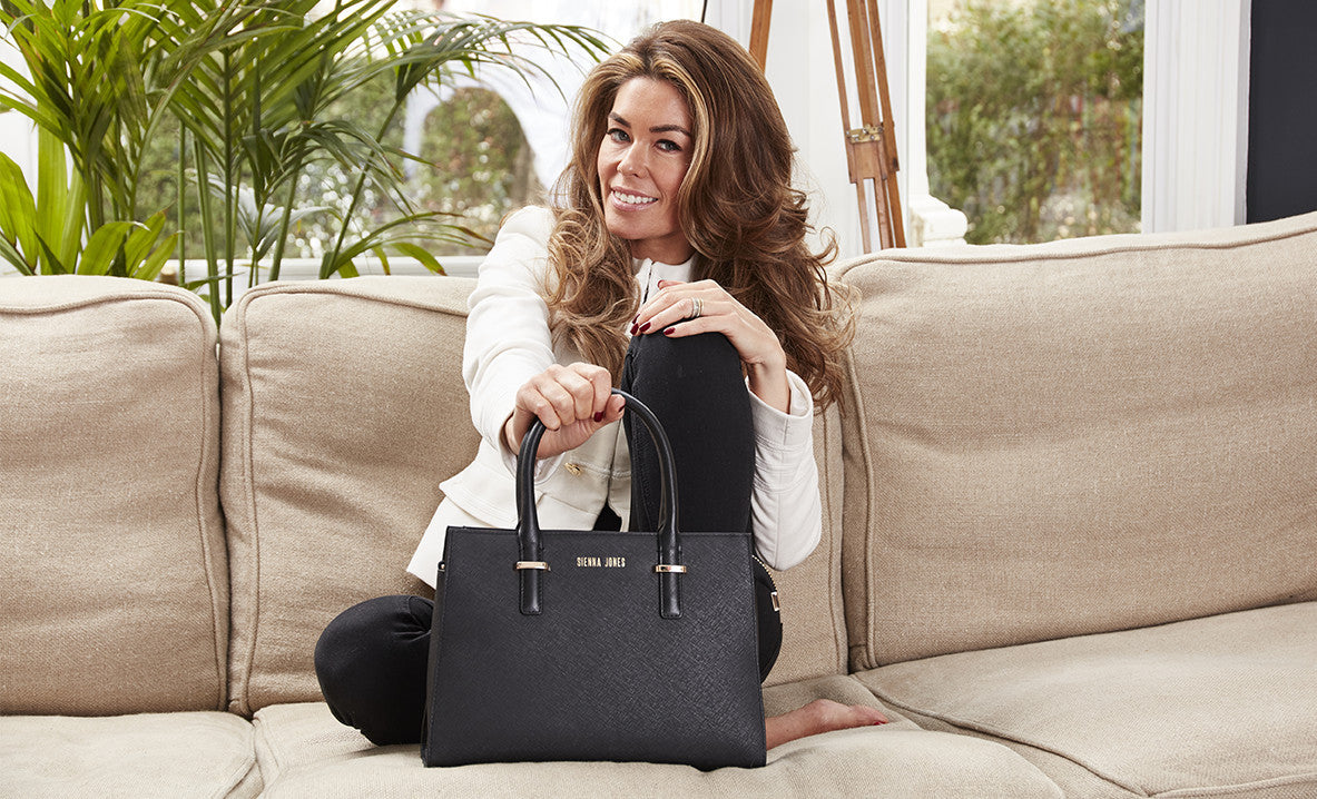 Sophie Stanbury with the Marina Executive Bag