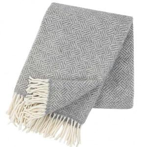 Samba - Grey - 100% Lambswool Blanket