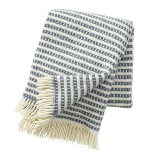 Klippan Olle Smokey Blue 100% Eco Lambswool Blanket