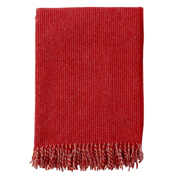 Shimmer Red - Eco 100% Lambswool Throw