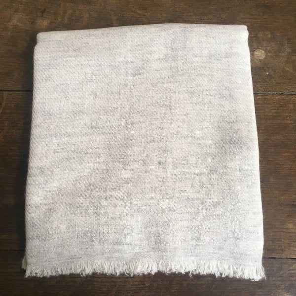 Soft Grey Cashmere Scarf