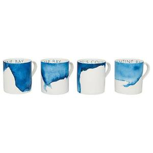 Mugs (Set of 4) Daymer Bay, St George's Cove, Trevone Bay, Constantine Bay