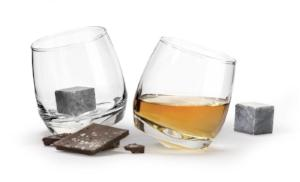 Gift Set - Set Of Whiskey Glasses With 2 Whiskey Stones