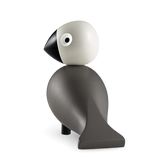 Grey and Light Grey Ernst Songbird Figurine