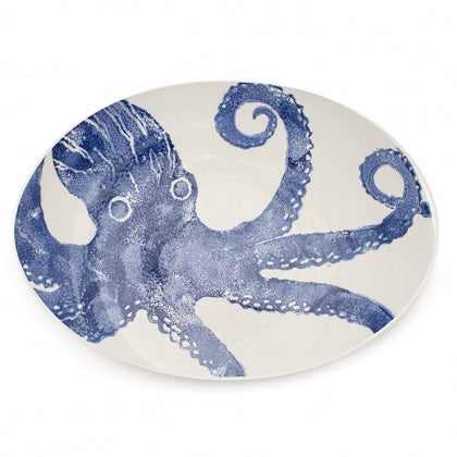 Giant Oval Platter - Octopus Blue