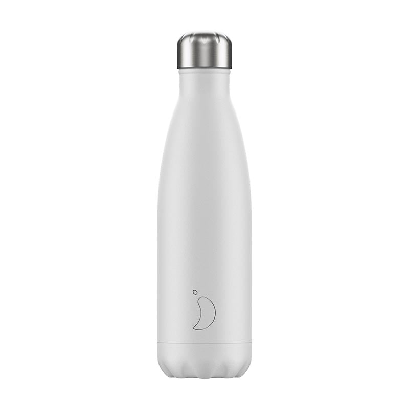 Chilly's Bottle - White Monochrome 500ml