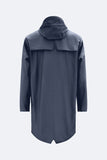 RAINS Blue Long Jacket