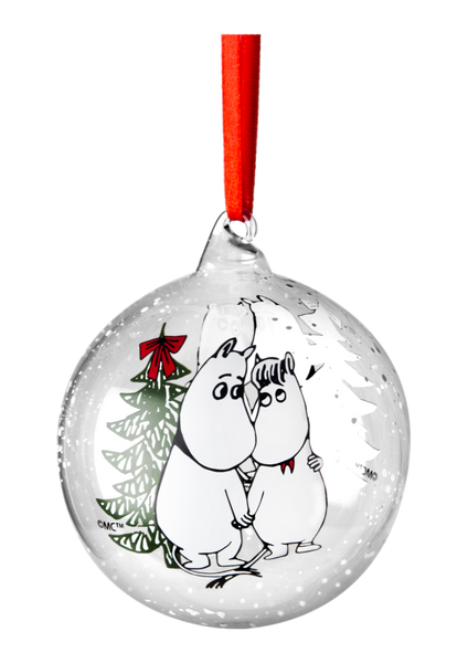 Moomin Decoration Ball - Moomin & Snorkmaiden 9cm