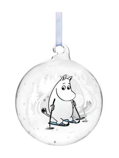 Moomin Decoration Ball - Ski Trip 9cm