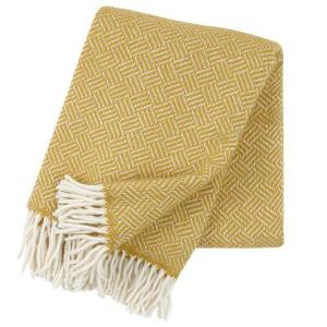 Samba - Yellow - 100% Lambs Wool Throw