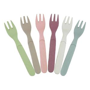 Zuperzozial Eco-Friendly Fork Ful Of Colour Set Of 6 Dawn Colours Made From Bamboo & Corn Perfect To Take For Picnics
