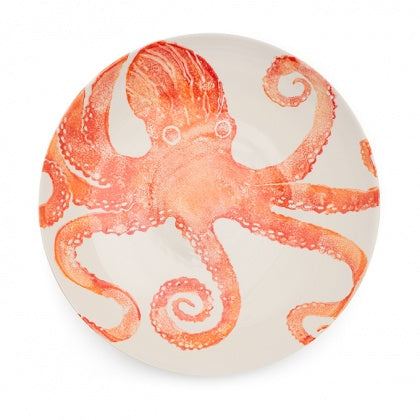 Serving Bowl - Octopus Orange