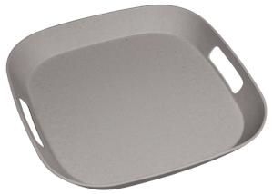 Zuperzozial Foursquare Serving Mate Tray Stone Grey