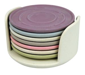 Zuperzozial Coaster Set Of 7 Dawn Colours Kitchen Tableware