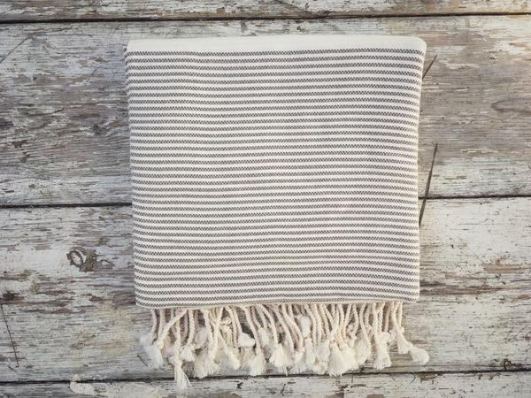 Bryher Grey Hammam Towel