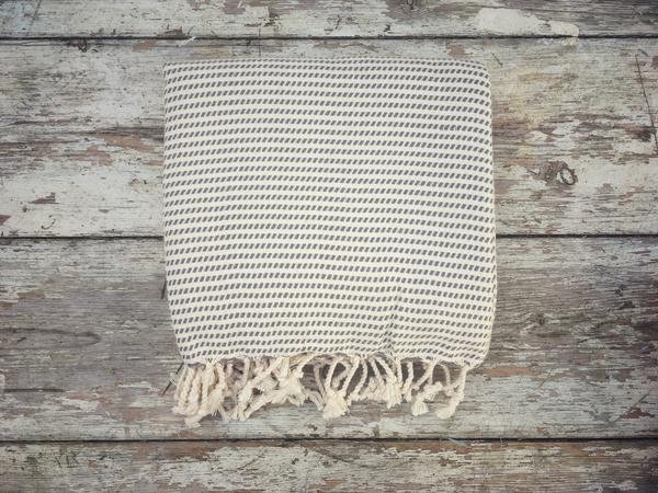 Logan Grey Hammam Towel