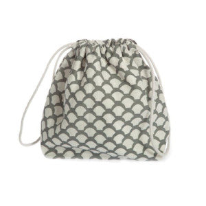 Iris Hantverk Natural Grey Linen Toiletry Bag