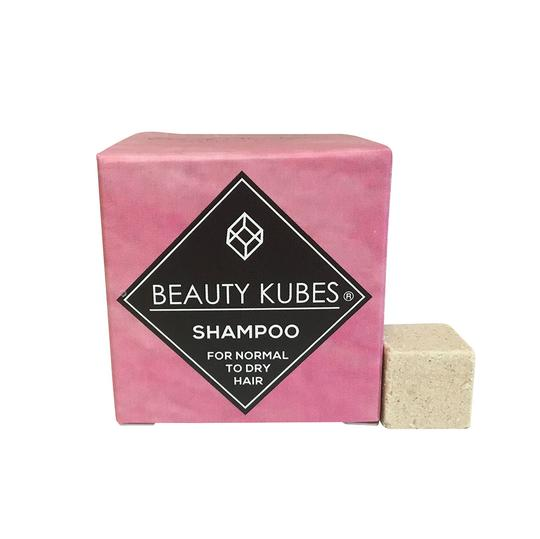 Pink box of Beauty Kubes containing 27 cubes packed with natural, hair loving ingredients. Plastic free, vegan and organic.