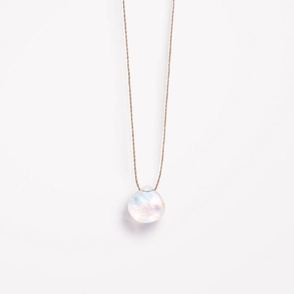 Wanderlustlife Rainbow Moonstone Necklace