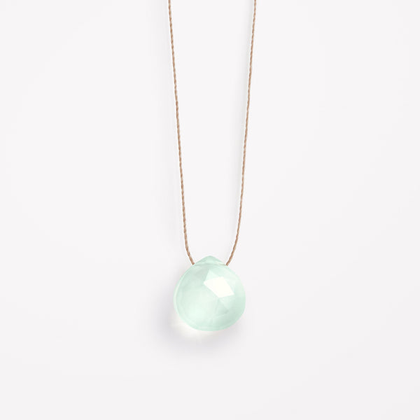 Wanderlustlife Sea Glass Chalcedony Necklace