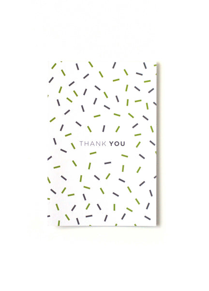 Celebratory Thank You Card - Front