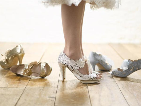 Peony wedding heels by Harriet Wilde