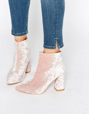 pink velvet heels asos urban wedding shoes