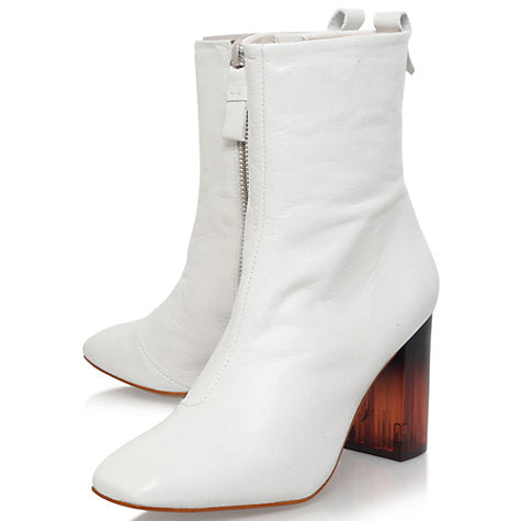 Kurt Geiger Strut white chelsea boots for a wedding