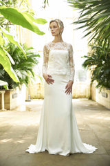 Tarbes Skirt, sandwashed crepe satin contemporary bridal separates by Francis Bridal