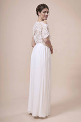 Suplice Top, off the shoulder, beaded lace bridal separates by Francis Bridal
