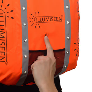 Reflective LED Backpack Cover