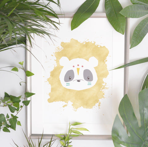 Panda Tribal Wall Art Nursery Decor