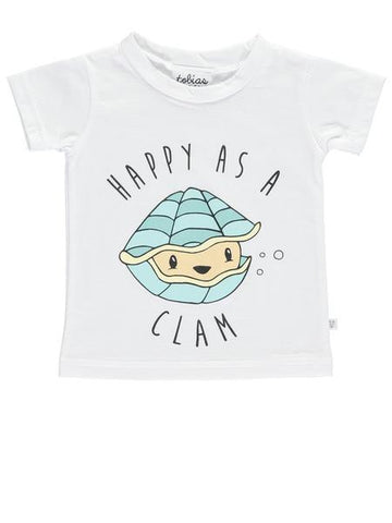 Born Lucky Happy as a Clam Kids Unisex T shirt